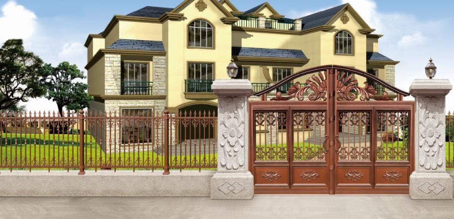 铝艺护栏-围墙护栏厂家别墅围墙护栏
